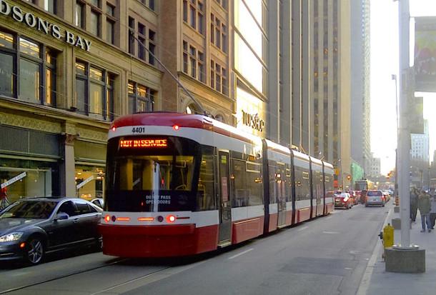 New streetcar traffic